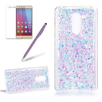 Carcasa para Huawei Honor 6x Brillante Brillo Funda - Girlyard Funda Silicona Suave y Fina Gel TPU Goma Patrón Piel Flexible Transparente Cubierta de ...