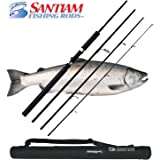 Santiam Fishing Rods 4 Piece 9'6'' 6-15lb Graphite Travel Spinning Rod