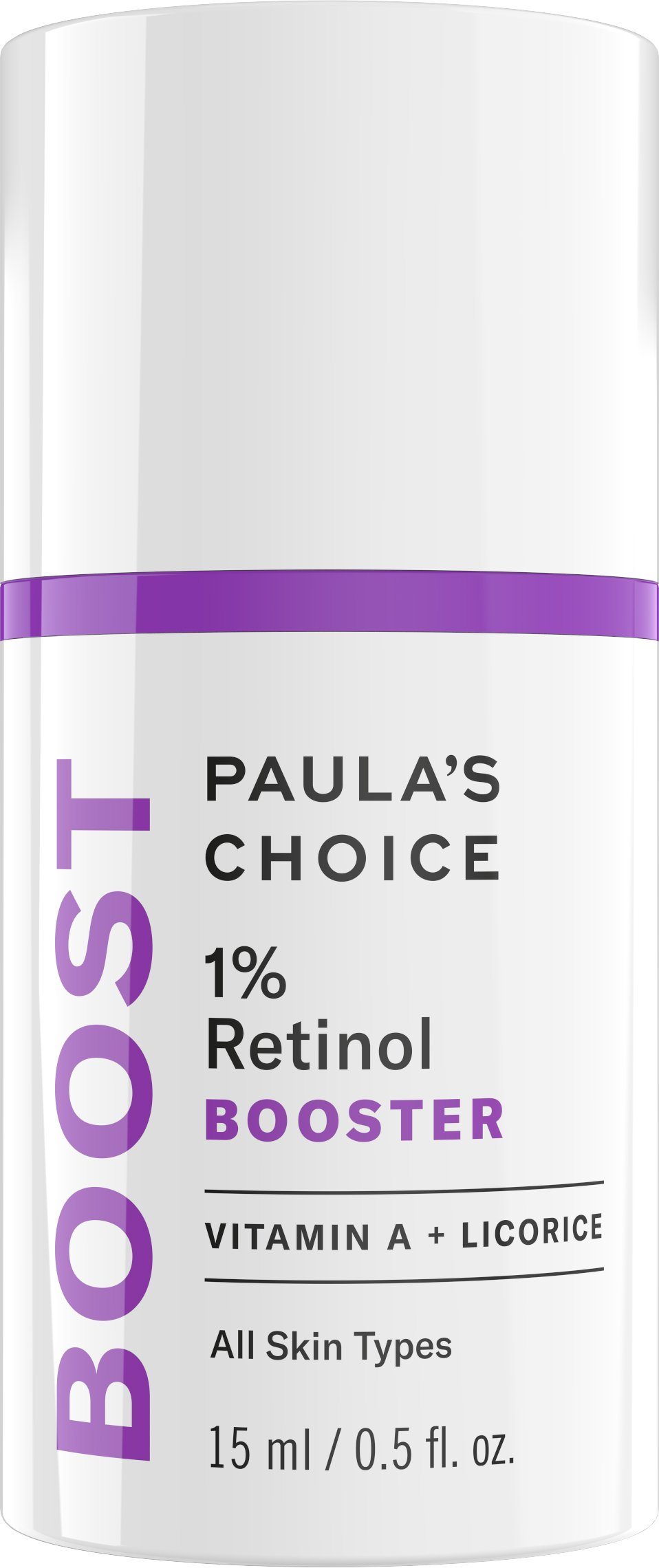 Paula's Choice BOOST 1% Retinol Booster for Brown Spots and Wrinkles, 0.5 Ounce Bottle Concentrated Vitamin A Retinol Serum for Normal, Dry, Oily and Combination Skin of the Face and Neck