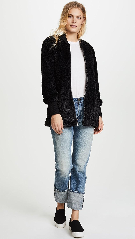 Splendid Womens Gramercy Faux Fur Jacket