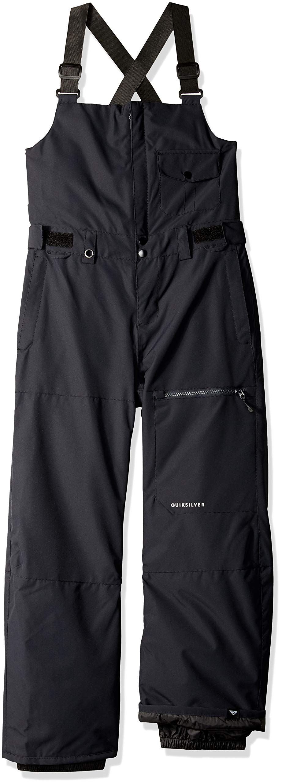 Quiksilver Boys' Big Stratus Youth BIB 10K Snow Pants, Black, 10/M