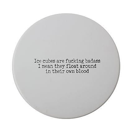 Cubitos de hielo se Fucking Badass I mean they flotador todo en su propia sangre cerámica
