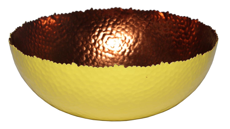 Melange Home Decor Cuivre Collection, Set of 3 Bowls - 6', 9' and 12', Color - White