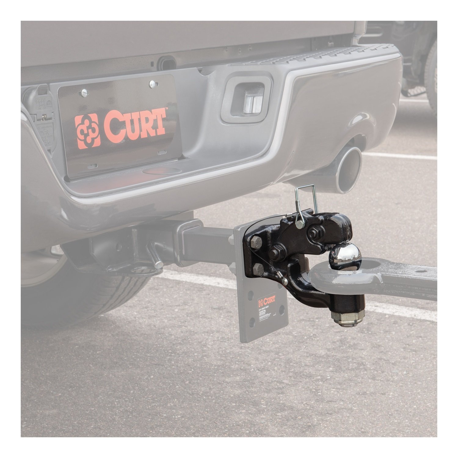 Curt Manufacturing 48200 8 Ton Combo Ball and Pintle - 2 5/16 In Ball Forged