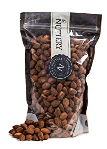 The Nuttery Freshly Roasted and Hickory Smoked Almonds - 16 ounce Pouch Bag (1lb)