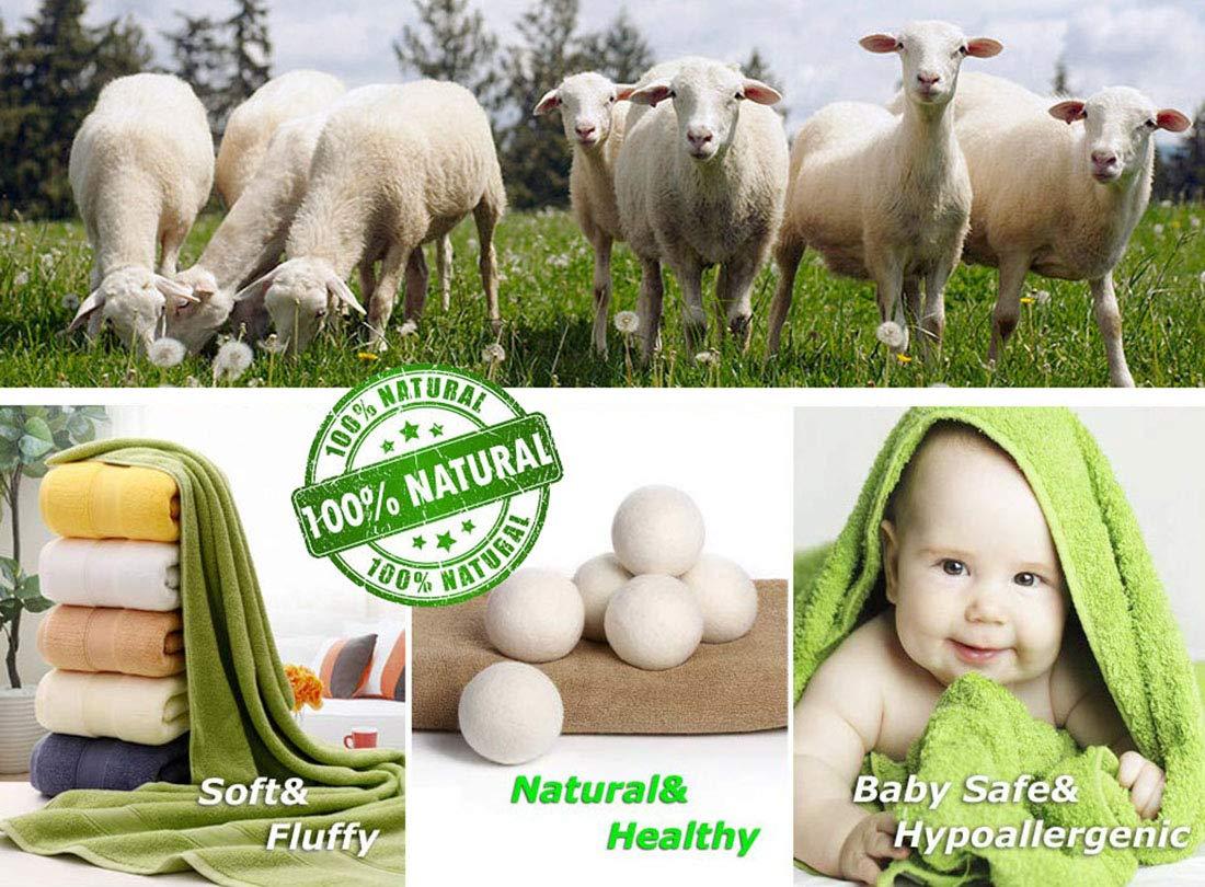 Dryer Balls Laundry Wrinkle Fabric Balls for Dryer Natural Dryer Softener Oil Dryer for Home Gift Set (6 PACK -2.9'') by LTLKY (Image #2)