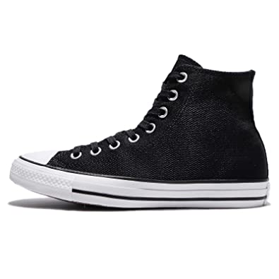 2703b7e0b2 Converse Womens Chuck Taylor All Star Hi Black Canvas Trainers 7 US