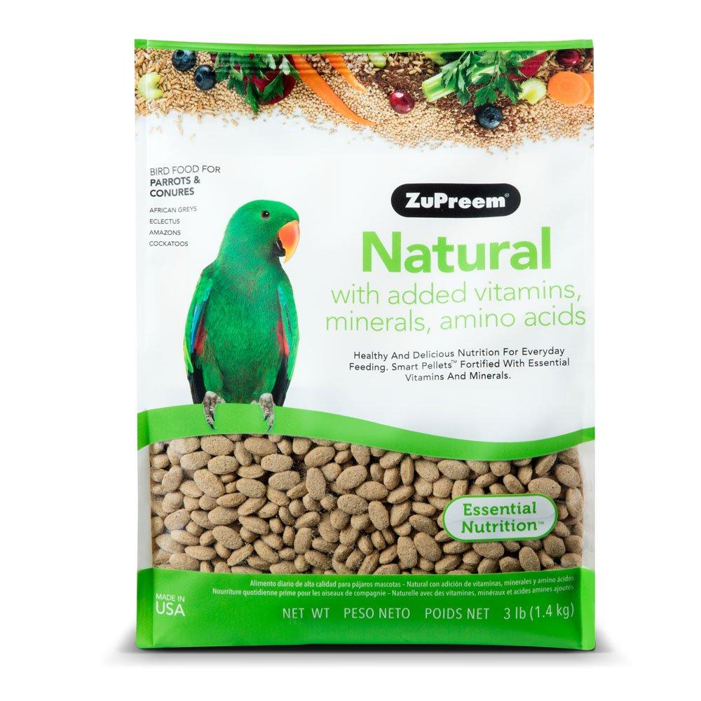 Zupreem Natural con añadido Vitaminas, Minerales, aminoácidos Medium/Large alimento para pájaros, 3 LB.: Amazon.es: Productos para mascotas