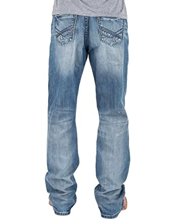 d0677fcd2e4 Tin Haul Men s Regular Joe Fit Light Wash Jeans Boot Cut at Amazon Men s  Clothing store