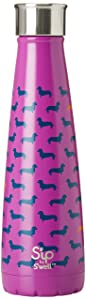 S'ip by S'well 200115510 Insulated, Double-Walled Stainless Steel Water Bottle, Top Dog 15oz