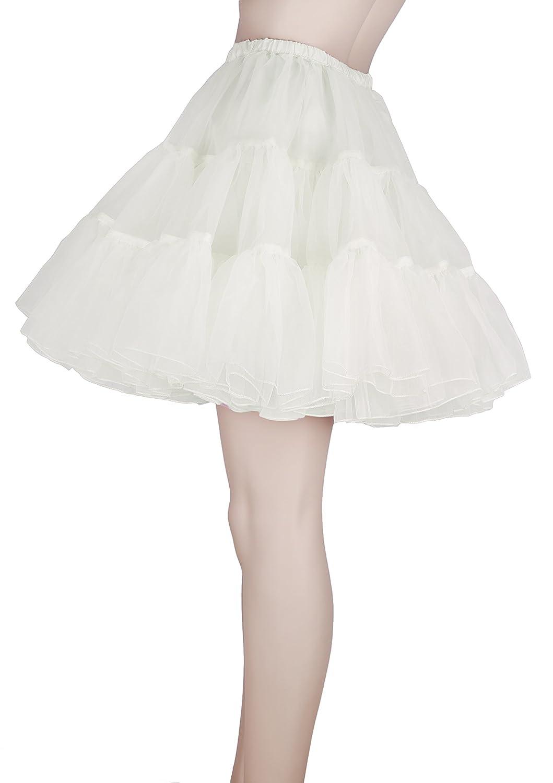 tut/ù o sottogonna gonna corta in stile rock n roll anni 50 Flora/® ideale come costume in maschera lunghezza 45,7/cm
