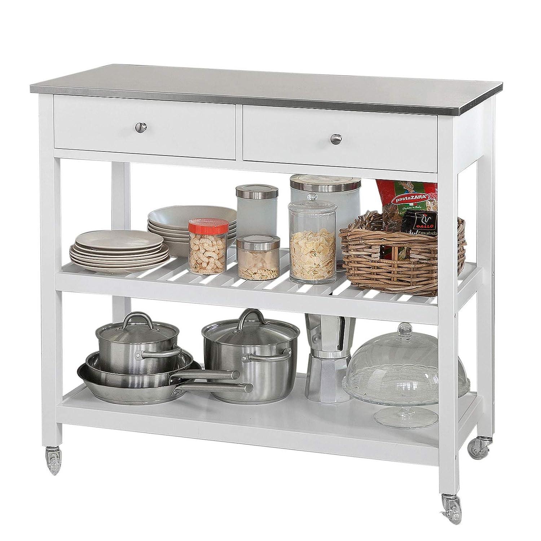 SoBuy Carrito de Servir, estantería de Cocina, Carrito de Cocina móvil,FKW47-W,ES: Amazon.es: Hogar