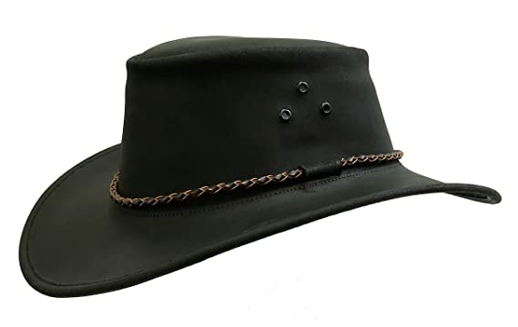dcb9dbdee39b4 Australian Echuca Leather Hat from Down Under