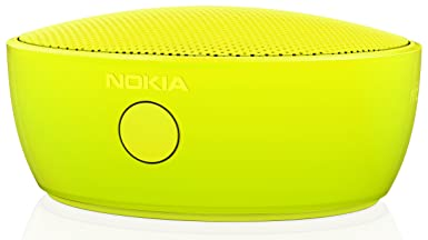 Nokia MD-12 Rechargeable Bluetooth NFC Wireless Portable Mini Speaker with Built-In Microphone for Smartphones Tablets – Yellow