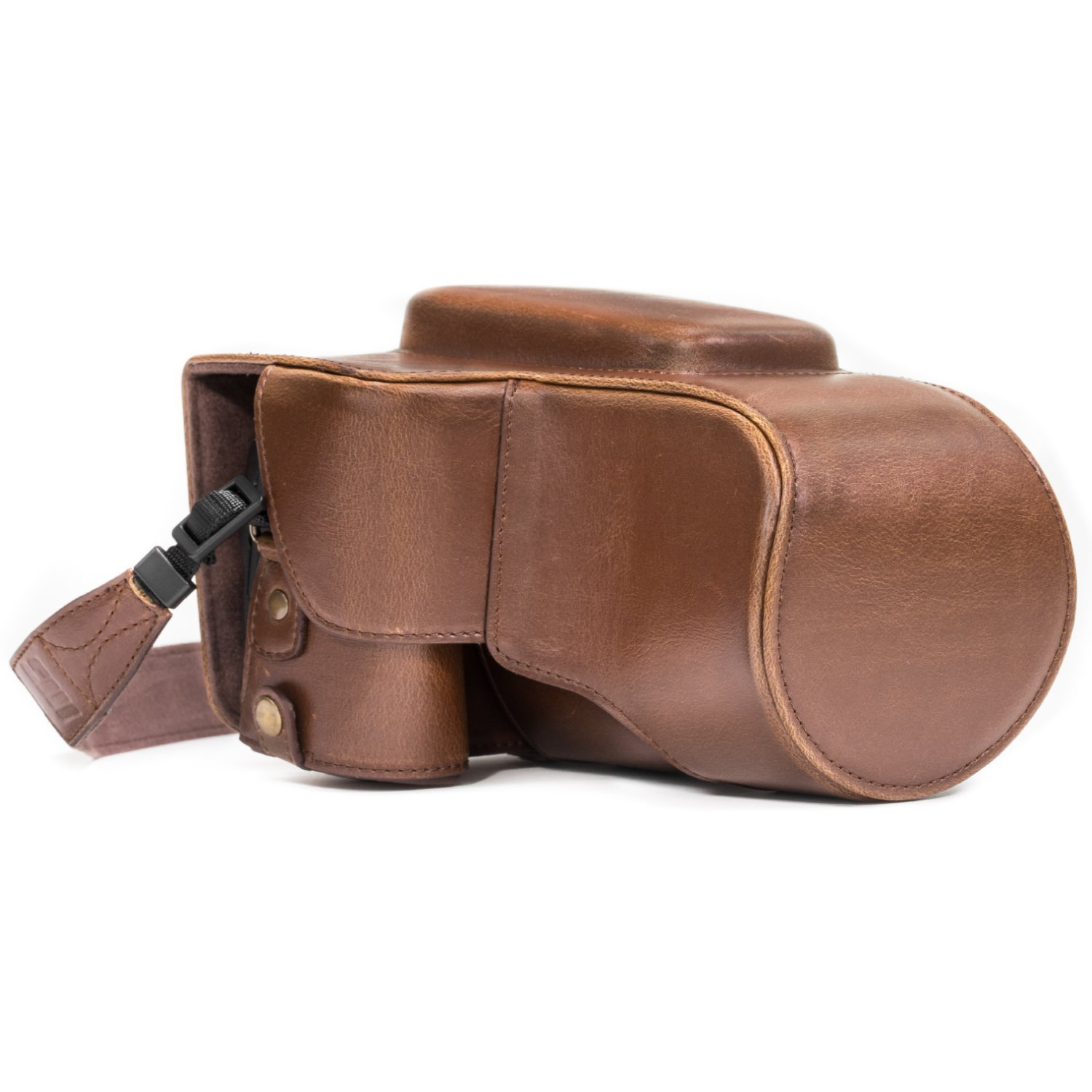 MegaGear Ever Ready Leather Camera Case Compatible with Nikon Coolpix P900, P900S