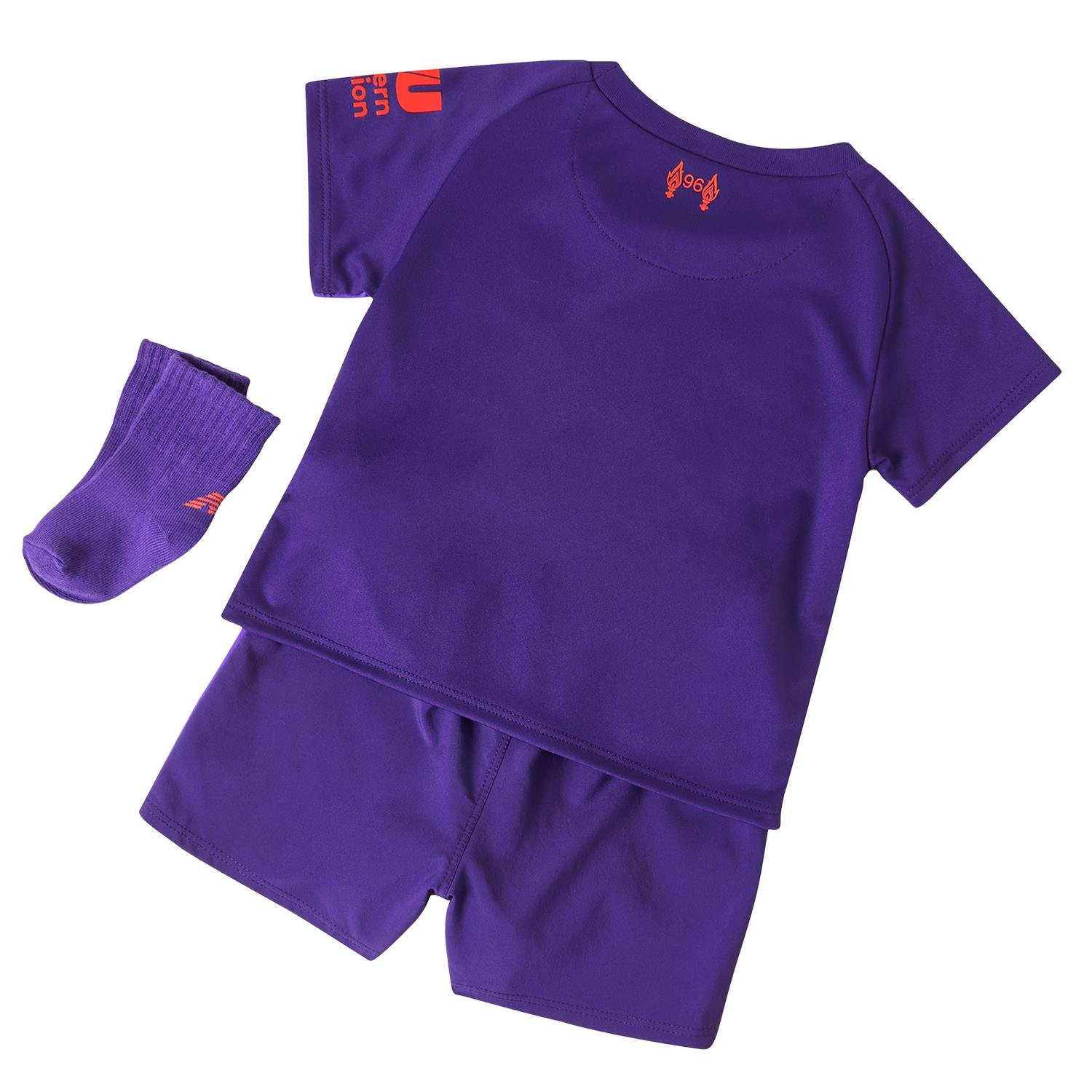 a226a1de2da New Balance Liverpool 2018 19 Kids Baby Toddler Away Football Kit Purple   Amazon.co.uk  Sports   Outdoors