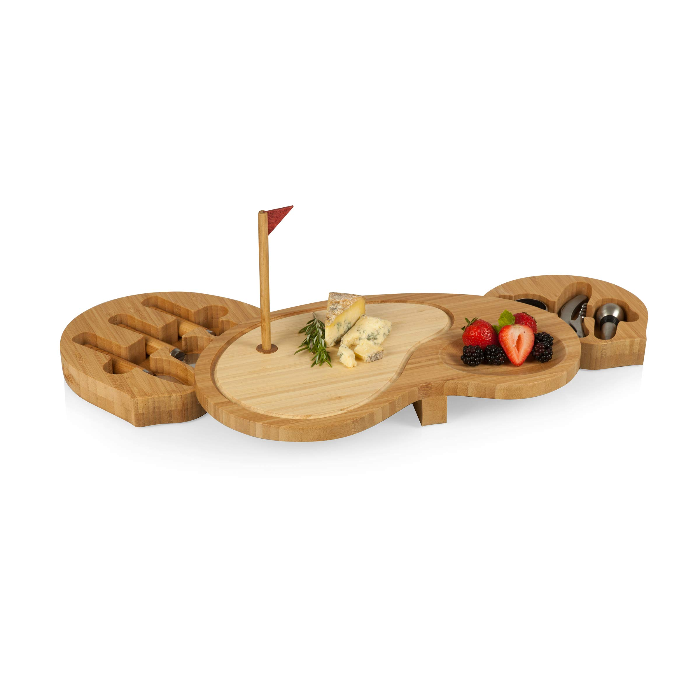 TOSCANA - a Picnic Time Brand Sand Trap Cheese Board and Tool Set by TOSCANA - a Picnic Time brand (Image #3)