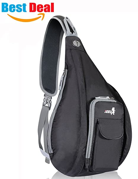 dda819f19e3c Image Unavailable. Image not available for. Color  Sling Backpack Bag for  Men Women