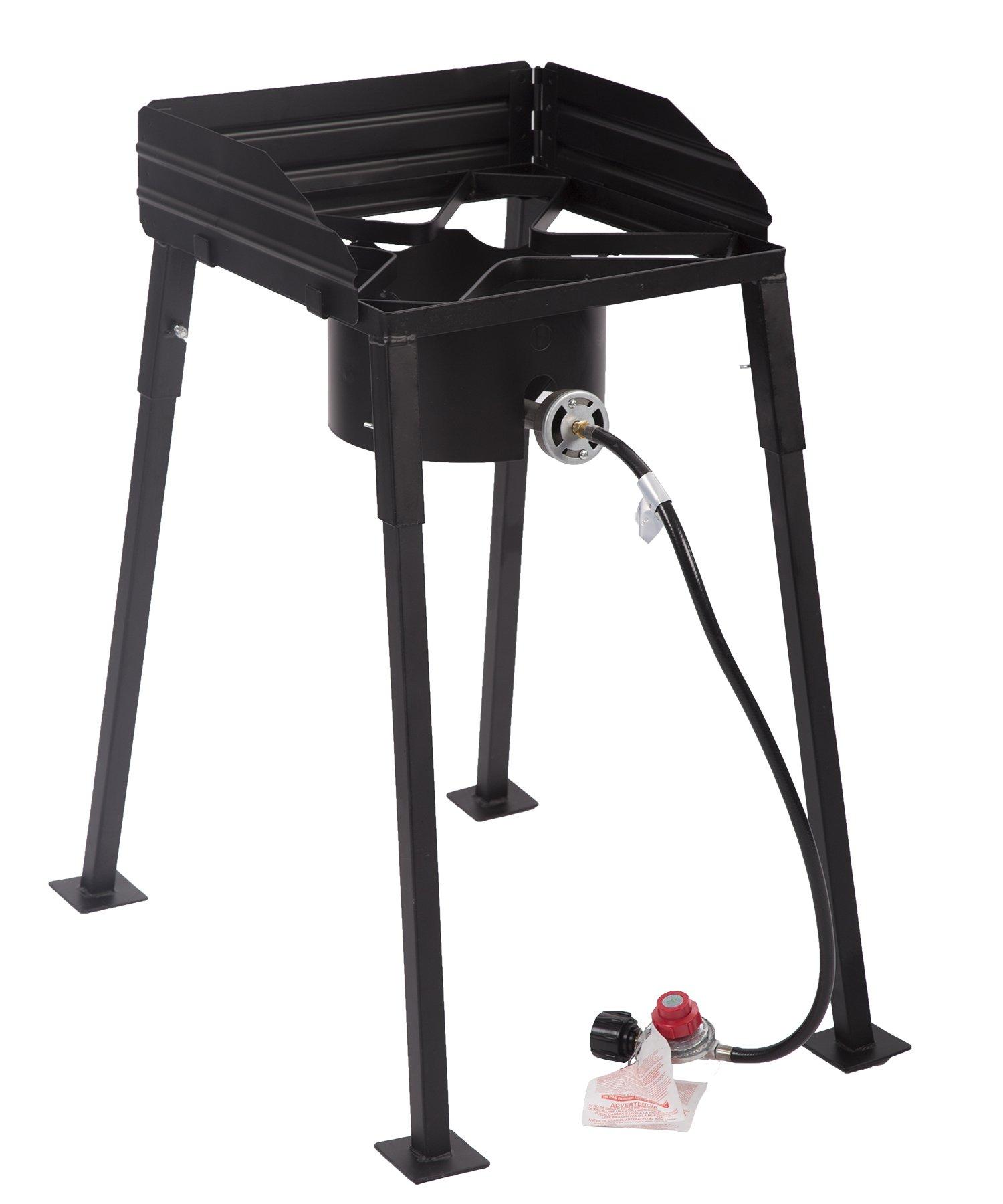 BestMassage Outdoor Propane Cooker Portable Propane High-Pressure Single-Burner Outdoor Camp Stove Single Burner Gas Patio Cooker