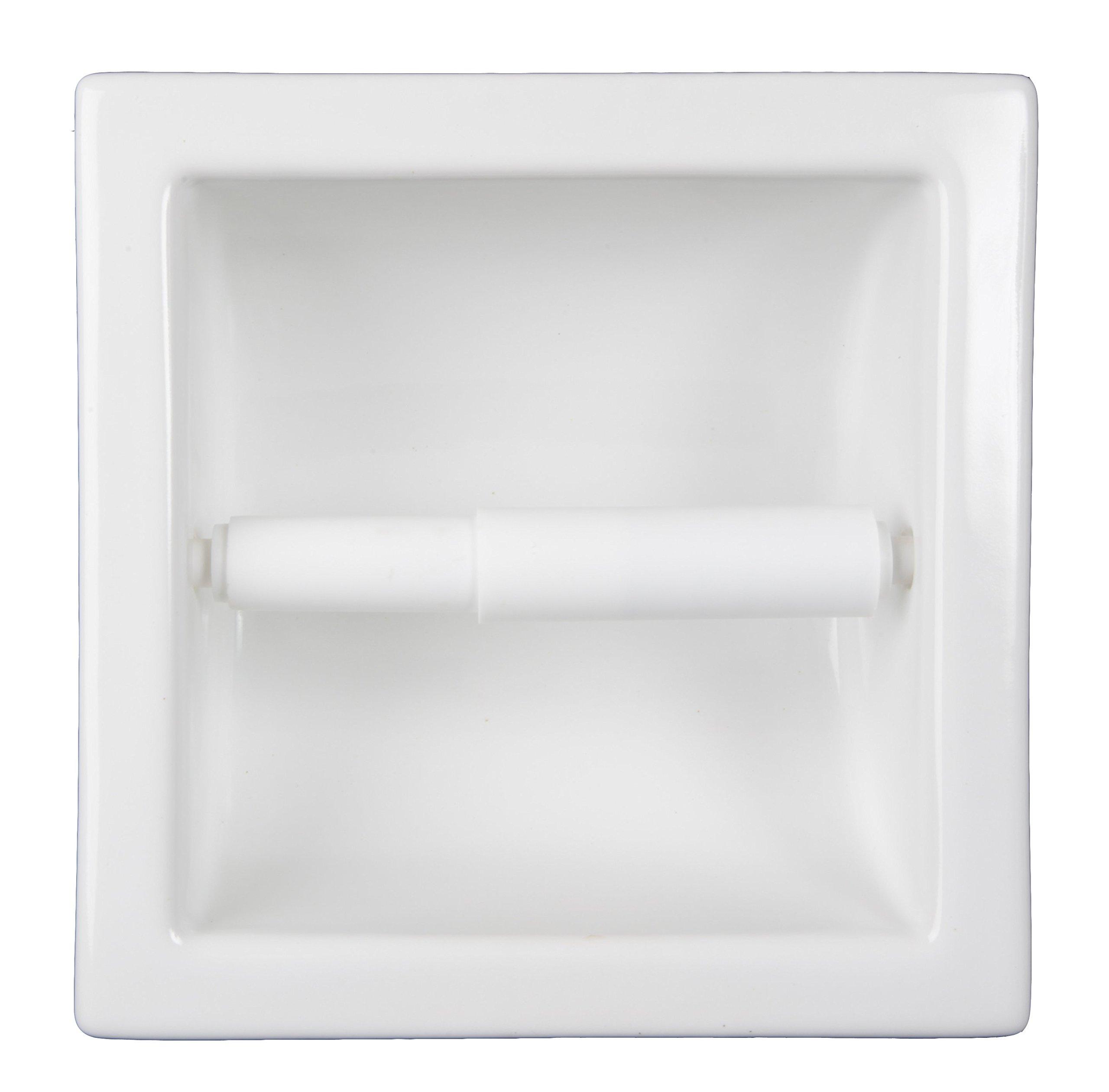 Recessed Ceramic Toilet Paper Holder Tile Niche