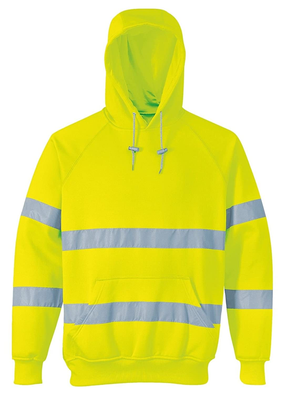Stormway/® Hi Viz Hi VIS High Visibility Hoodie Hoody Hooded Sweatshirt Fleece Pullover Top