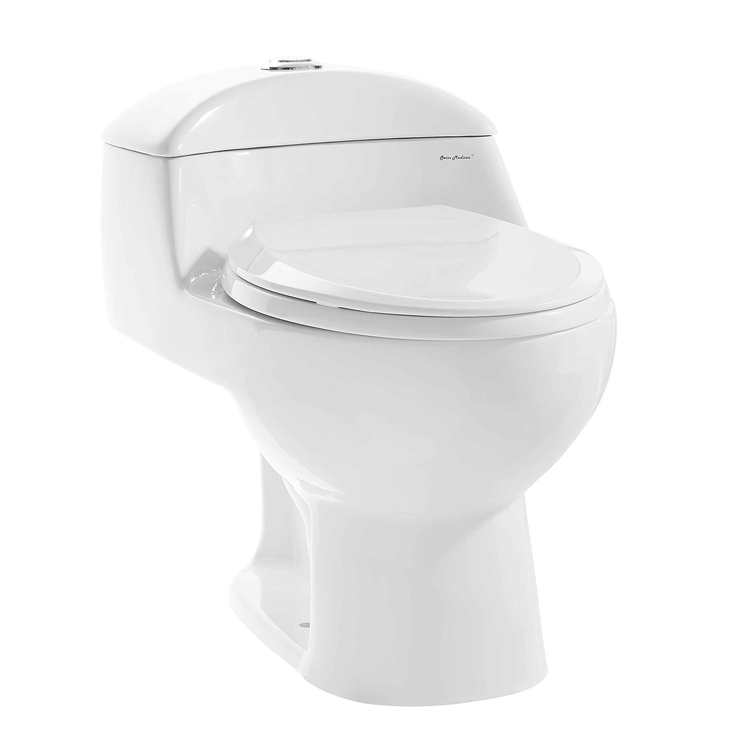 Swiss Madison SM-1T803 Chateau Elongated Toilet Dual Flush 0.8/1.28 Gpf (Soft Closing Quick Release Seat Included) by Swiss Madison