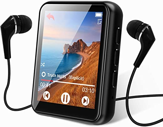 MP3 Player Bluetooth 5.0 Touch Screen Music Player 16GB Portable MP3 Player with Speaker high Fidelity Lossless Sound