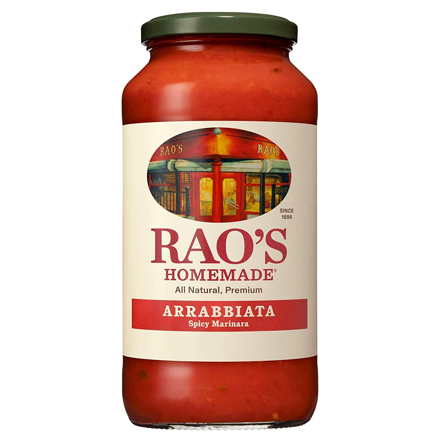 Rao's Homemade Arrabbiata Sauce, 24 oz, Spicy Tomato Sauce, Pasta Sauce, Carb Conscious, Keto Friendly, All Natural, Premium Quality, With Italian Tomatoes & Crushed Red Pepper