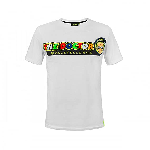 9bfb90dc 2018 Valentino Rossi 46 The Doctor Cupolino Mens - T-Shirt - White:  Amazon.co.uk: Clothing