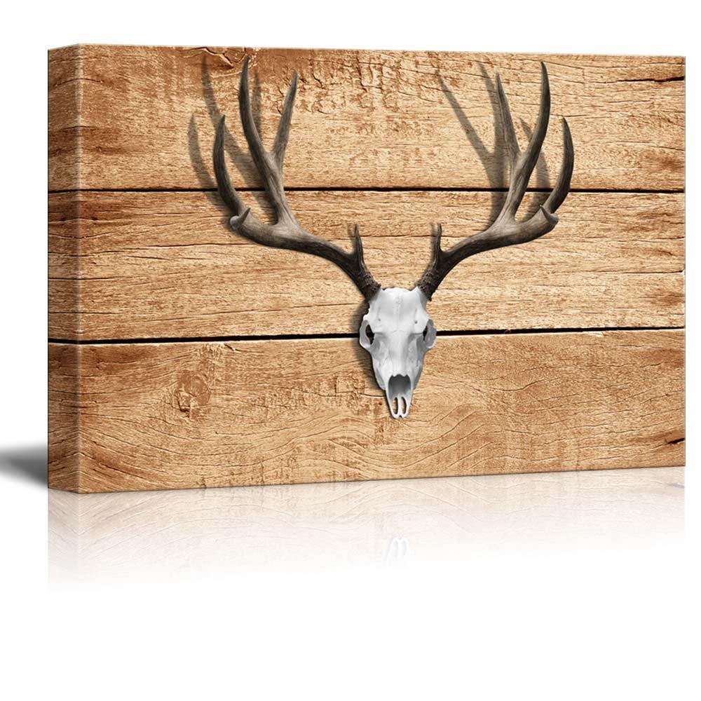 superb Antler Wall Decor Part - 14: Canvas Art. Rustic Deer Antler Wall Decor ation
