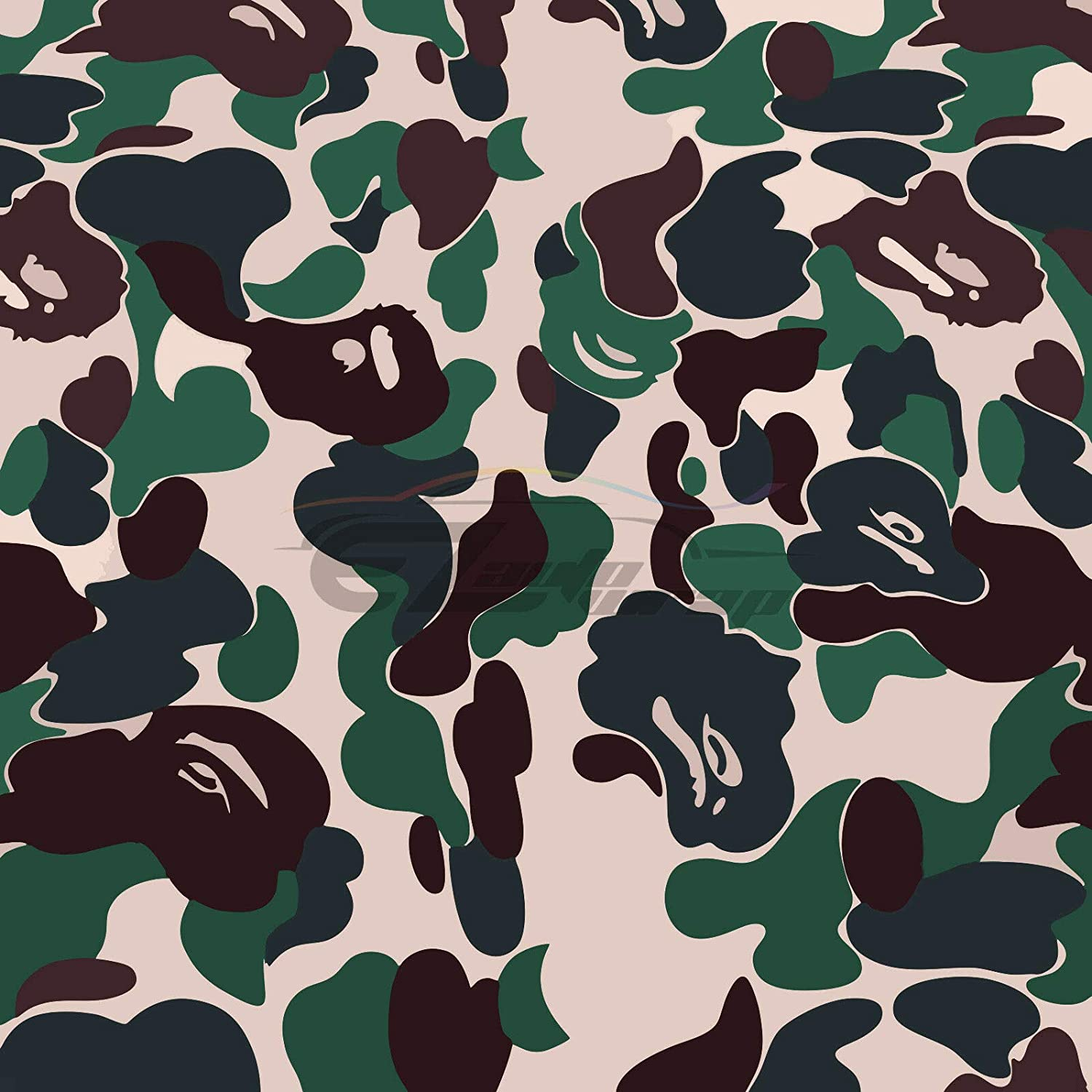 "*60/""x108/"" Green Morning Wood Camouflage Camo Car Vinyl Wrap Sticker Air Release"
