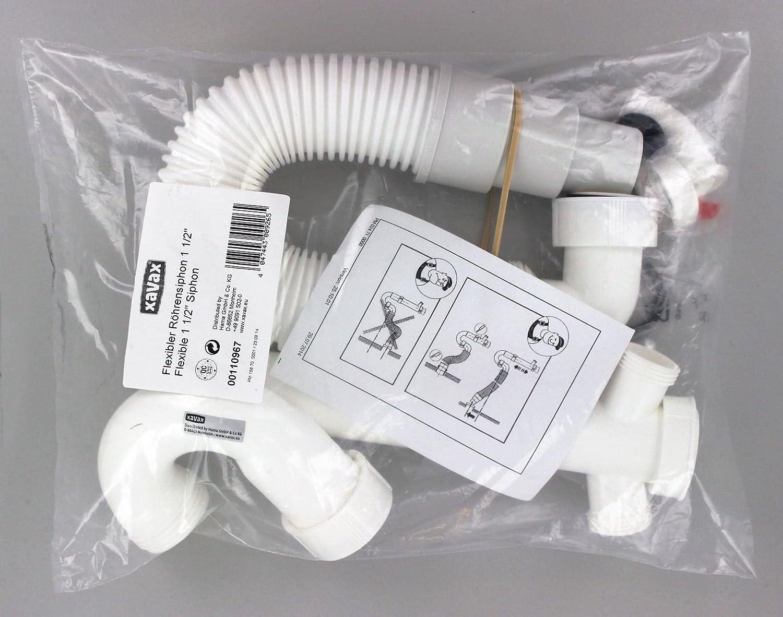 Xavax Flexibler Röhrensiphon für Küchenspüle (Waschmaschine und ...