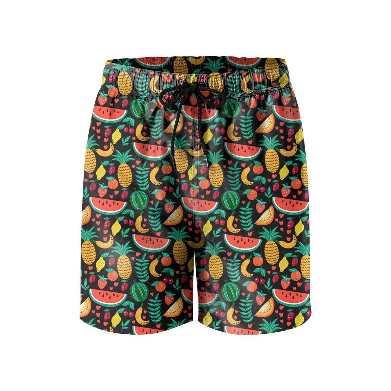 DSFASDXFX Watermelon-Strawberry-Cherry-Pineapple-Banana camo Men Board Shorts Bermuda Cool