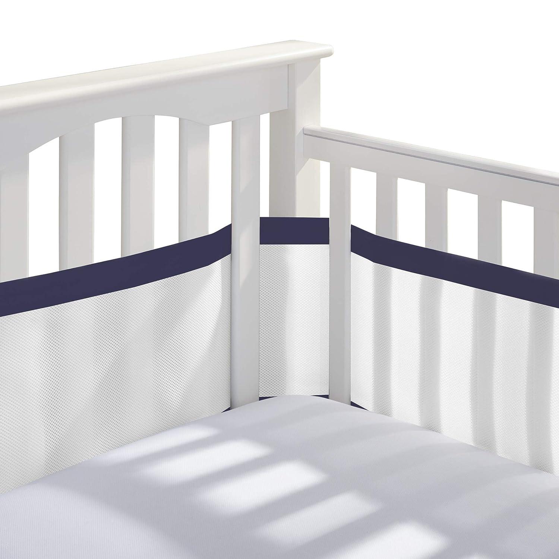 BreathableBabyDeluxe Breathable Mesh Crib Liner Doctor EndorsedHelps /&