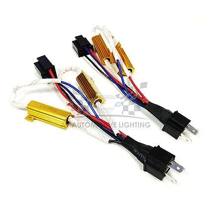 amazon com: o-nex led resistor kit h4 (9003 hb2) relay harness adapter anti  flicker error decoder warning canceller: automotive
