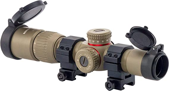 Monstrum G2 1-4x24 First Focal Plane FFP Rifle Scope with Illuminated BDC Reticle