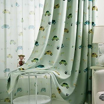 Adaada Vorhänge Auto Kinderzimmer,Vorhänge Kinderzimmer Junge,Vorhänge Für  Kleine Fenster,2er Set