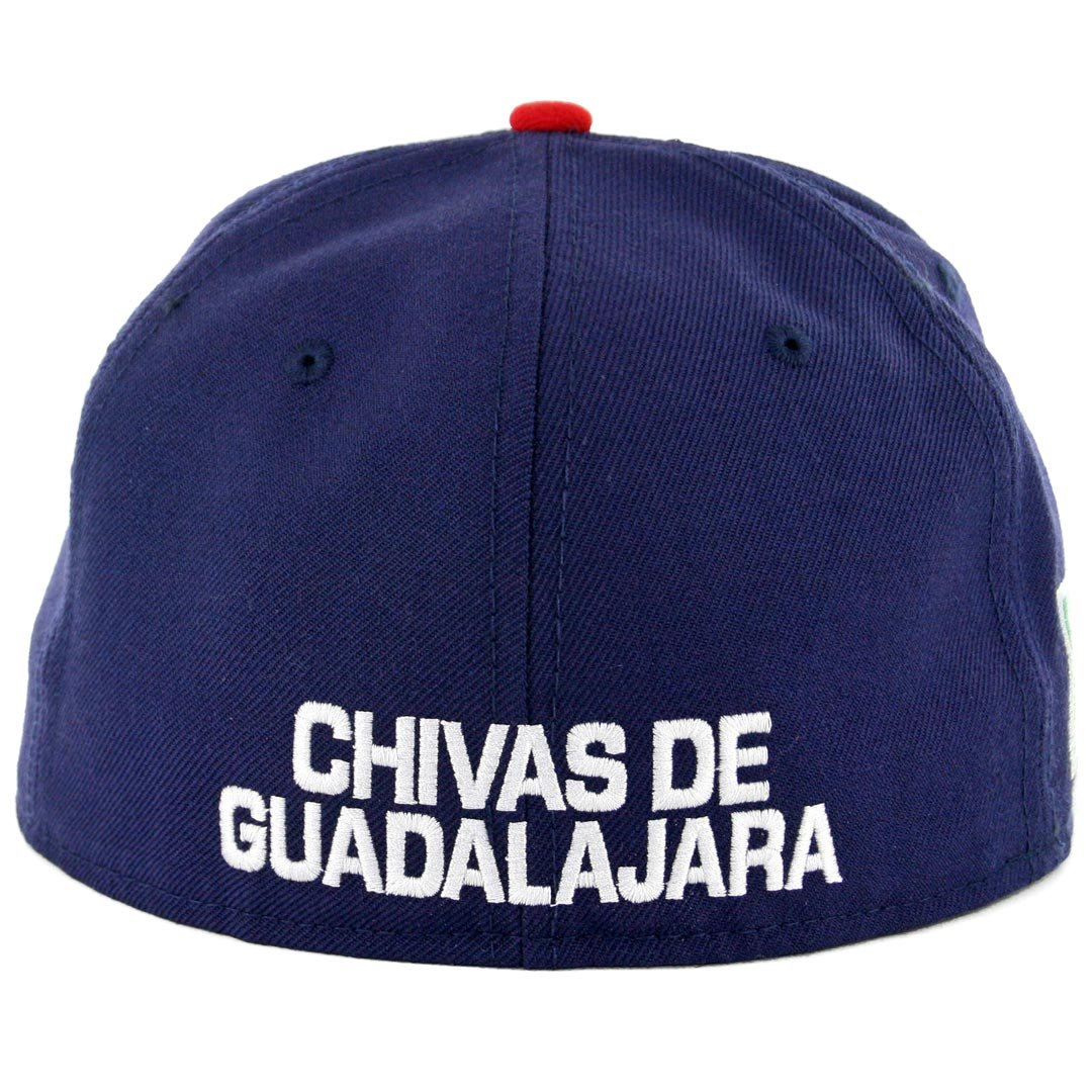 Amazon.com: New Era 59Fifty Hat Chivas De Guadalajara Soccer Official Team White/Blue/Red Cap: Clothing