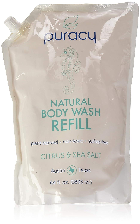 Puracy Natural Body Wash, Citrus and Sea Salt, 16 Fluid Ounce PBW16-1