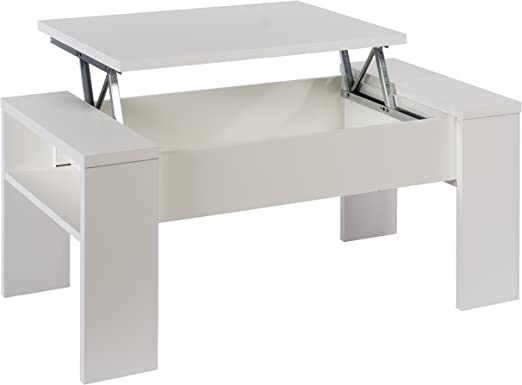 Studio Decor Mesa de Centro elevable Andrea, Color Blanco Brillo ...
