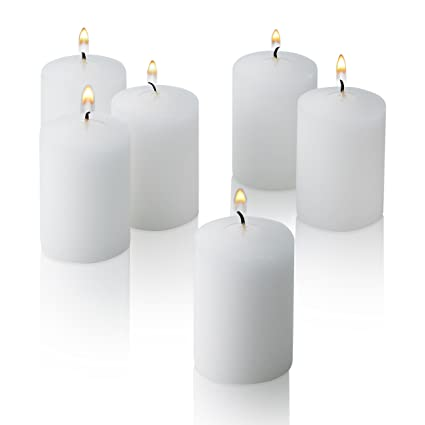 68c0a73ef2f Light In The Dark White Votive Candles - Box of 36 Unscented Bulk Candles -  15