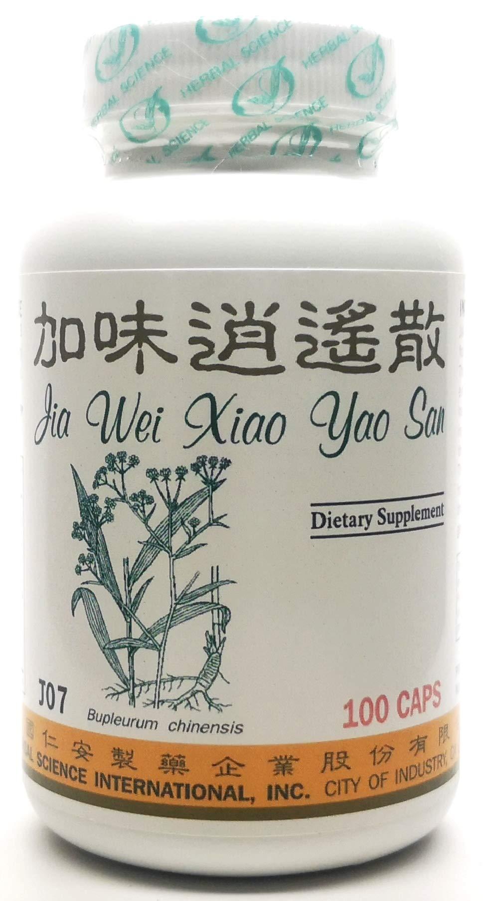 Liver Energy Plus Dietary Supplement 500mg 100 Capsules (Jia Wei Xiao Yao San, Augmented Rambling, Rambling Plus) J07 100% Natural Herbs TCM Formula