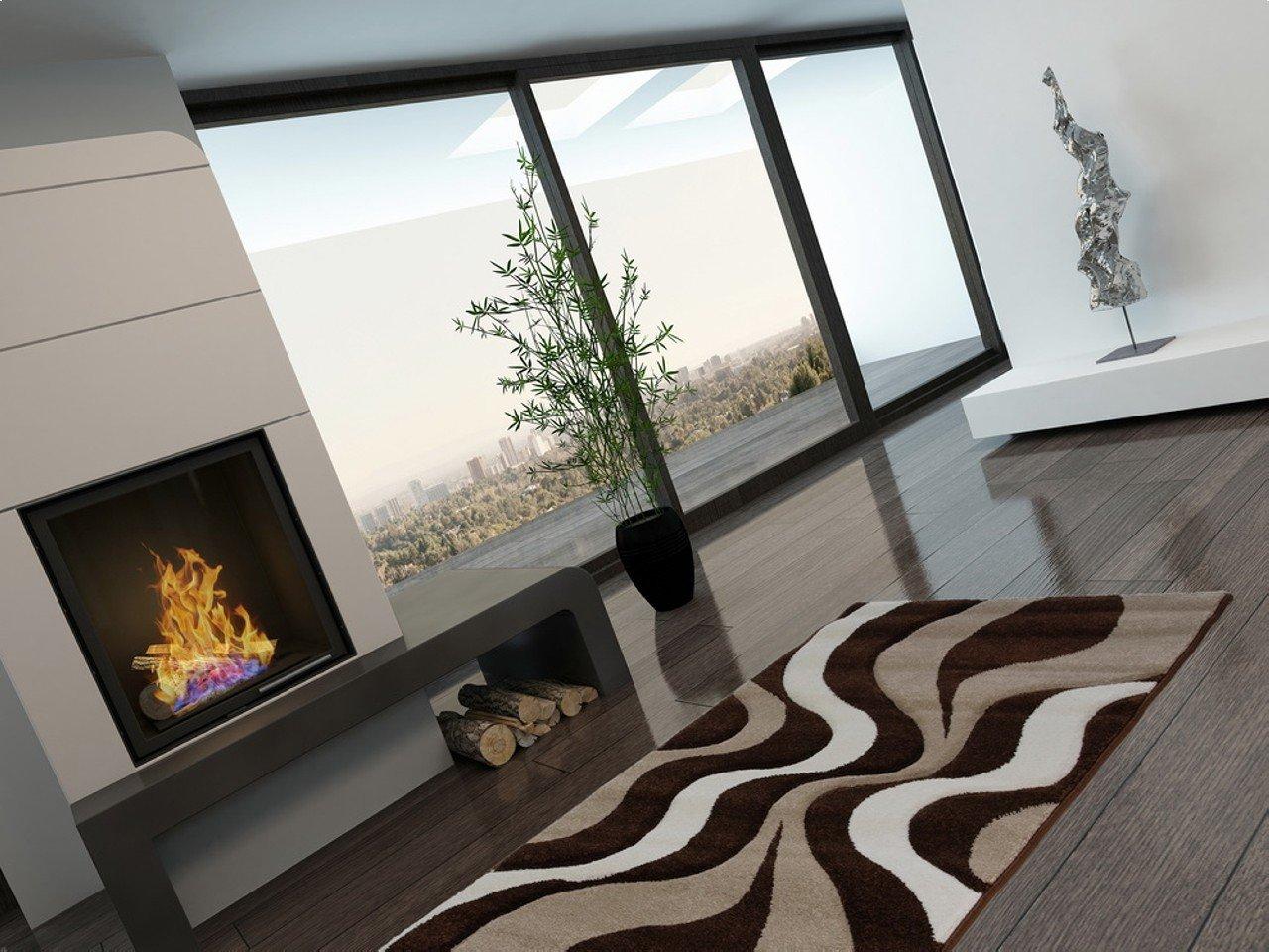 Acerto FRIESE3 40176 Rug 80 X 300 CM Expressive Design And Brown Modern  Bright Colours Wohnzimmerteppich: Amazon.co.uk: Kitchen U0026 Home