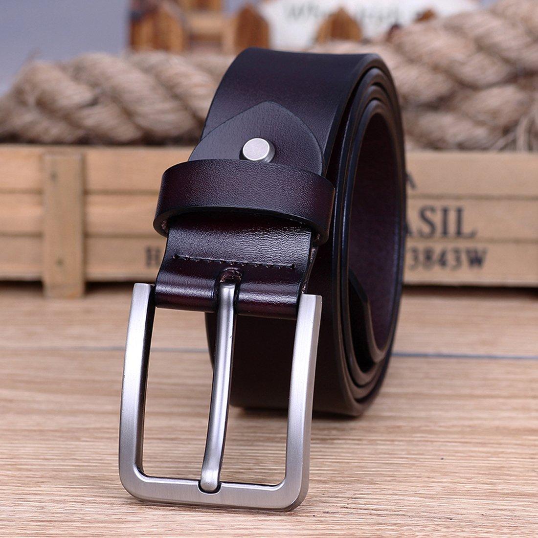 c2b6c03d1cd Modesty Ceinture pour homme en cuir avec boucle d ardillon ceinture exquis  ceinture chic(Brown) - PD001  Amazon.fr  Vêtements et accessoires