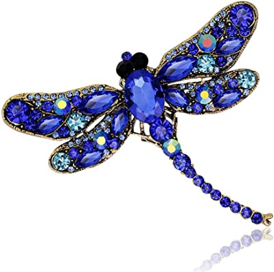 Vintage Dragonfly Brooches for Women Insect Brooch Pin Fashion Wedding Accessory