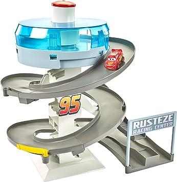 Cars 3 Playset per Mini Racers con Pista da Corsa a Spirale Include Una Macchinina di Saetta McQueen FYN86 Anni Giocattolo per Bambini di 4