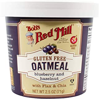 product image for Bobs Red Mill Oatmeal Cup, Hazelnut Blueberry, 2.5 oz