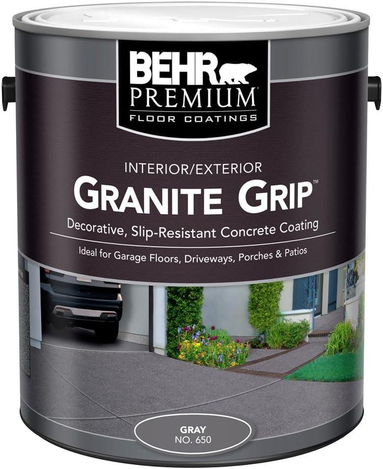 BEHR 1 gal. Gray Granite Grip Interior/Exterior Concrete Paint Image
