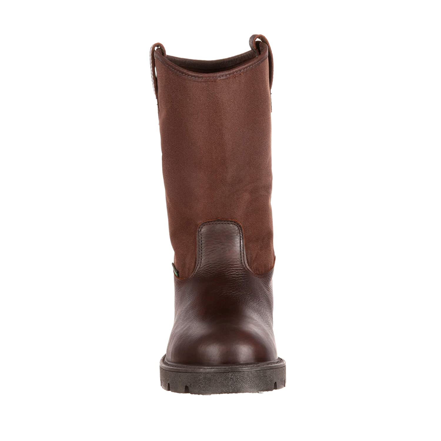 Georgia Mens 11 Homeland Waterproof Wellington Boot-G113 Brown M9