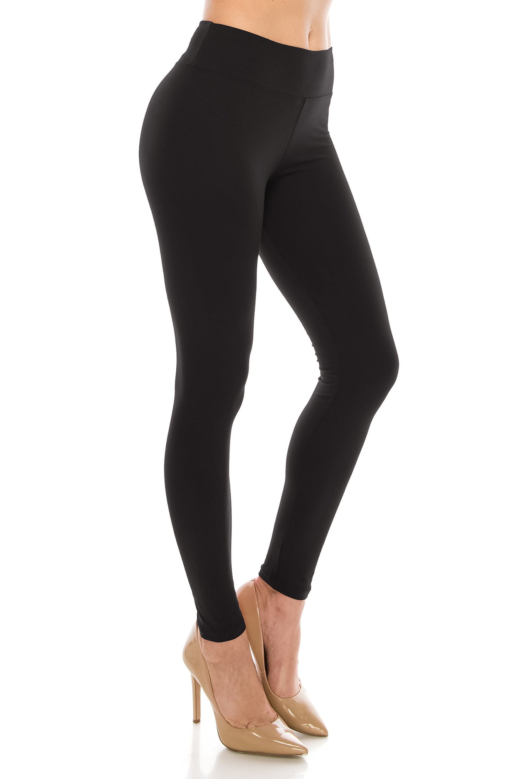 ALWAYS Leggings Women High Waist - Premium Buttery Soft Yoga Workout Stretch Solid Pants Black Plus
